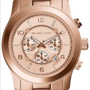 Michael Kors MK8096 rose gold men's watch